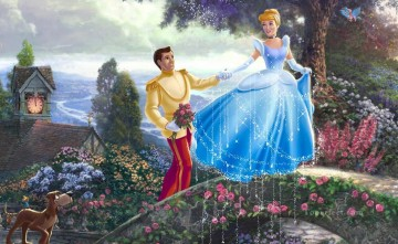 Thomas Kinkade Painting - Cinderella Wishes part Thomas Kinkade