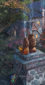 Thomas Kinkade Painting - Cinderella Wishes part5 Thomas Kinkade
