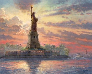 Thomas Kinkade Painting - Dedicated to Liberty Thomas Kinkade