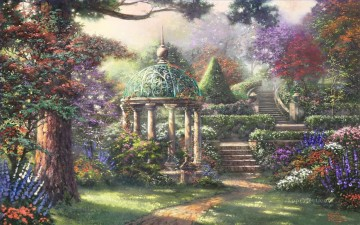 Gazebo of Prayer Thomas Kinkade Oil Paintings