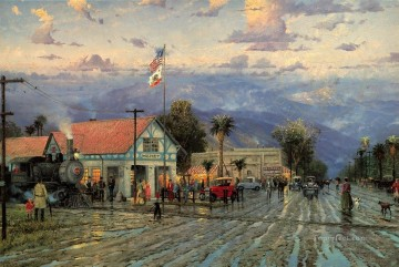 Hemet 1915 Florida Avenue at Dusk Thomas Kinkade Oil Paintings