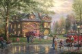 Hometown Firehouse Thomas Kinkade