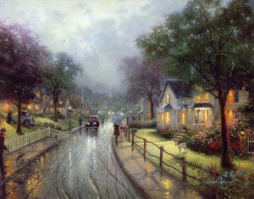 Kinkade Canvas - Hometown Memories Thomas Kinkade