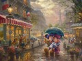 Mickey and Minnie in Paris Thomas Kinkade