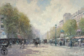 Morning Painting - Morning on the Boulevard Thomas Kinkade