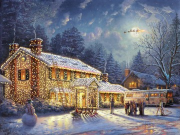 thomas kinkade Painting - National Lampoon Christmas Vacation Thomas Kinkade