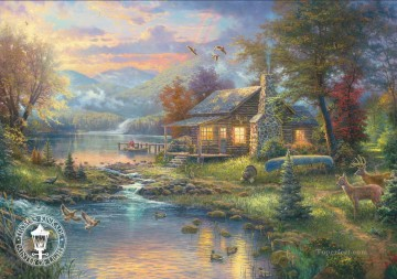 Thomas Kinkade Painting - Nature Paradise Thomas Kinkade