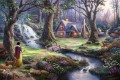 Snow White Discovers the Cottage Thomas Kinkade