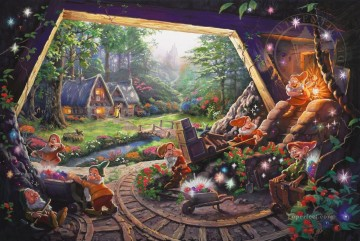 Snow White and the Seven Dwarfs Thomas Kinkade Oil Paintings