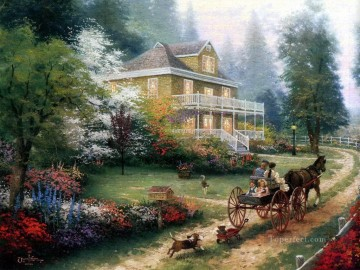 Sunday At Apple Hill Thomas Kinkade Oil Paintings