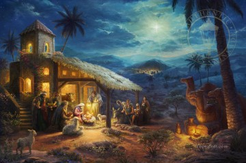 THE NATIVITY Thomas Kinkade Oil Paintings