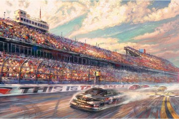 Kinkade Canvas - This Is Talladega Thomas Kinkade