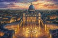 Vatican Sunset Thomas Kinkade
