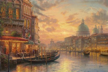 Thomas Kinkade Painting - Venetian Cafe Thomas Kinkade