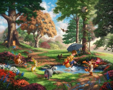 Winnie The Pooh I Thomas Kinkade Oil Paintings