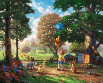 Winnie The Pooh II Thomas Kinkade Oil Paintings