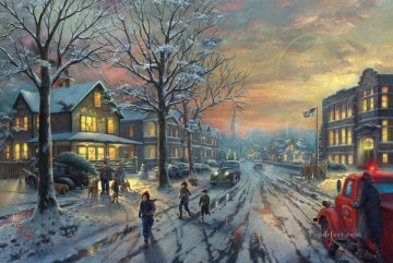 A Christmas Story Thomas Kinkade Oil Paintings
