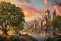Beauty and the Beast II Thomas Kinkade