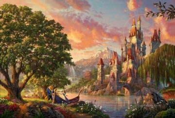 Thomas Kinkade Painting - Beauty and the Beast II Thomas Kinkade