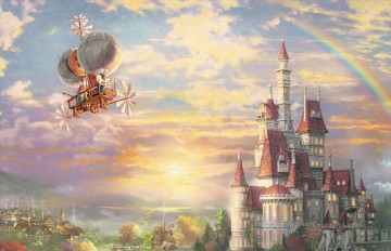 Beauty and the Beast part Thomas Kinkade Oil Paintings