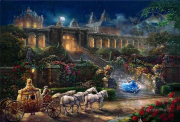 Clock Strikes Midnight Thomas Kinkade Oil Paintings