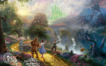 Kinkade Canvas - Dorothy Discovers the Emerald City Thomas Kinkade