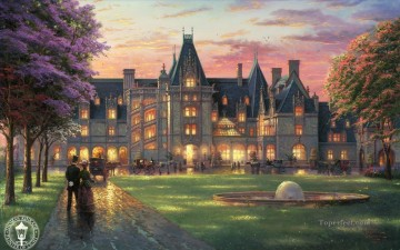 Thomas Kinkade Painting - Elegant Evening at Biltmore Thomas Kinkade