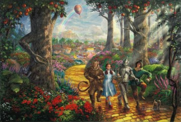 thomas kinkade Painting - Follow The YELLOW BRICK ROAD Thomas Kinkade