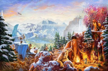 Thomas Kinkade Painting - Ice Age Thomas Kinkade