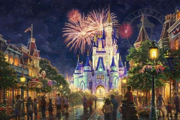 Main Street Walt Disney World Resort Thomas Kinkade Oil Paintings