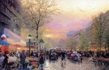 Paris City Of Lights Thomas Kinkade Oil Paintings