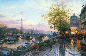 Thomas Kinkade Painting - Paris Eiffel Tower Thomas Kinkade