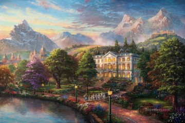 Thomas Kinkade Painting - Sound of Music Thomas Kinkade
