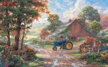 Summer Heritage 1280x800 Thomas Kinkade Oil Paintings