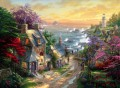 The Village Lighthouse Thomas Kinkade