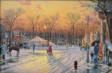 Town Square Thomas Kinkade Oil Paintings