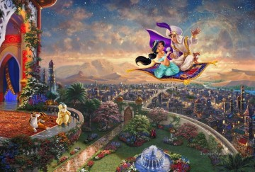 Aladdin Thomas Kinkade Oil Paintings