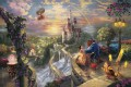 Beauty and the Beast Falling in Love Thomas Kinkade