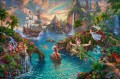 Disney Peter Pan Never Land Thomas Kinkade