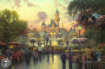 Disneyland 50th Anniversary Thomas Kinkade Oil Paintings