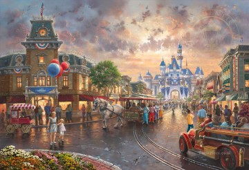 Thomas Kinkade Painting - Disneyland 60th Anniversary Thomas Kinkade