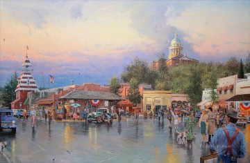 Main Street Courthouse Thomas Kinkade Oil Paintings