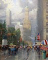 New York Central Park South at Sixth Ave Thomas Kinkade