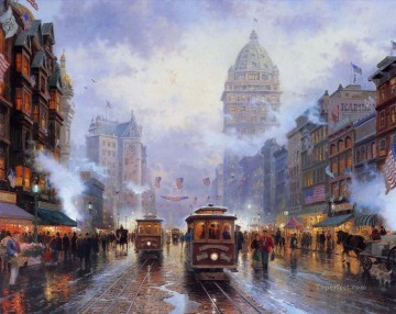 San Francisco Market Street Thomas Kinkade Oil Paintings