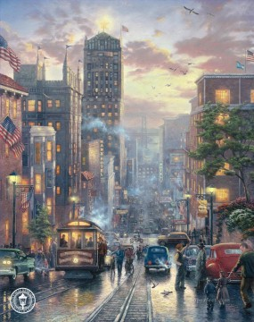 San Francisco Powell Street Thomas Kinkade Oil Paintings
