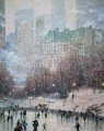 Skating in the Park Thomas Kinkade