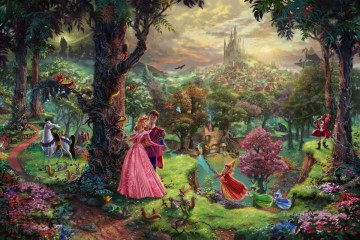 Thomas Kinkade Painting - Sleeping Beauty Thomas Kinkade