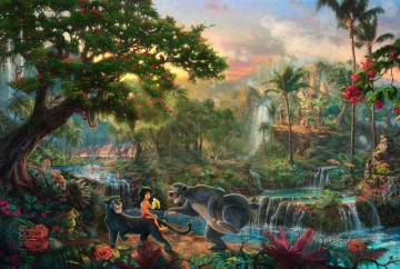Kinkade Canvas - The Jungle Book Thomas Kinkade