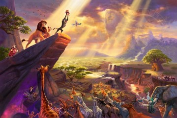 Thomas Kinkade Painting - The Lion King Thomas Kinkade