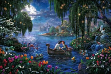 mermaid Painting - The Little Mermaid II Thomas Kinkade